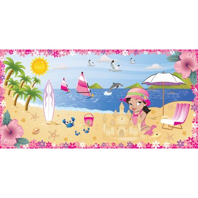 Mona Melisa Designs Beach Girl Wall Mural