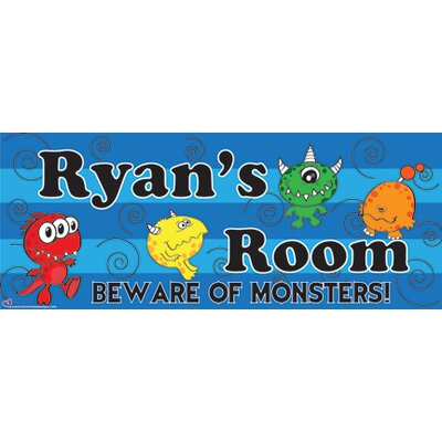 Mona Melisa Designs Name Sign Monster Boy