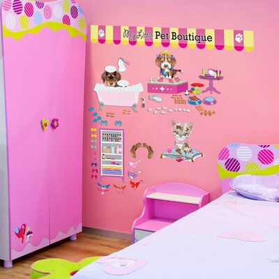 Mona Melisa Designs Peel and Play Pet Boutique Wall Play Set