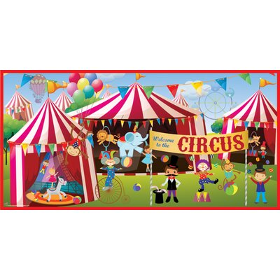 Mona melisa designs classic circus wall mural reviews for Circus wall mural