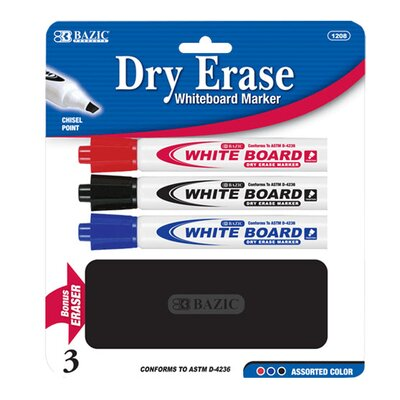 Bazic Chisel Tip Dry Erase Marker