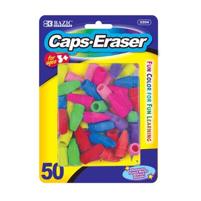 Bazic Eraser Top (Set of 50)