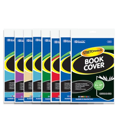 Bazic 8 Stretchable Fabric Book Covers