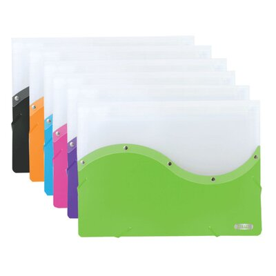 Bazic Two Tone Letter Size Document Case (Set of 12)