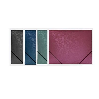 Bazic Floral Embossed Letter Size Document Holder