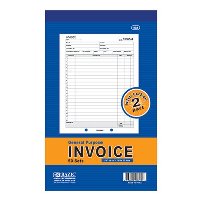 Bazic 2-Part Invoice (Set of 50)