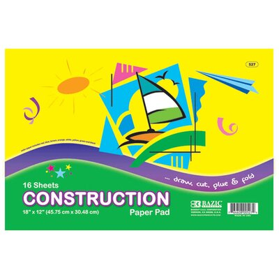 Bazic Construction Paper Pad (Set of 48)
