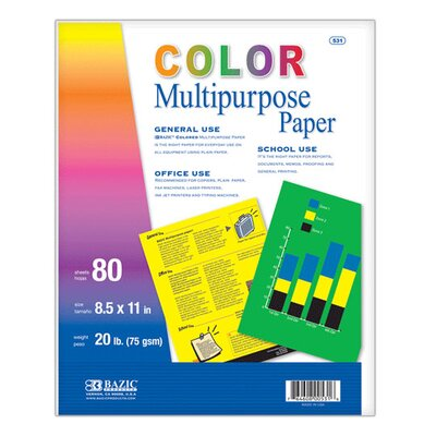 Bazic Multi Color Multipurpose Paper