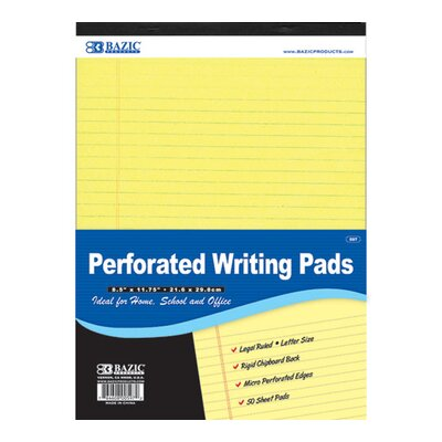 Bazic Perforated Writing Pad (Set of 48)