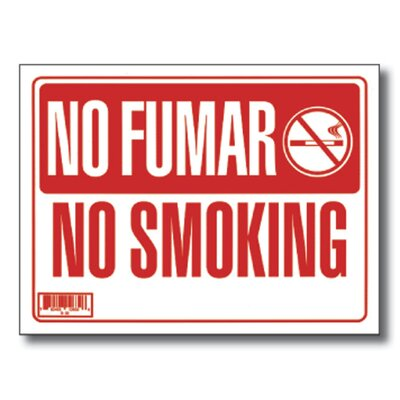 Bazic No Fumar / No Smoking Sign (Set of 24)