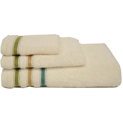 dCOR design Multi Stripe 3 Piece Towel Set