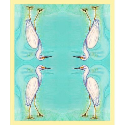 Betsy Drake Interiors Snowy Egret Polyester Throw