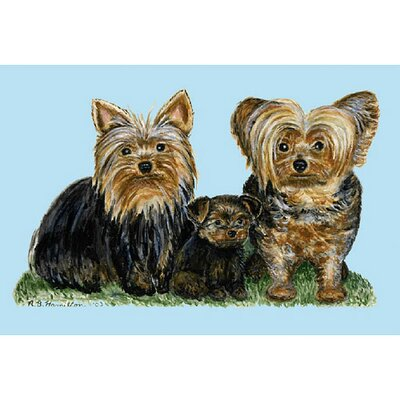 Betsy Drake Interiors Pets Yorkies Door Mat
