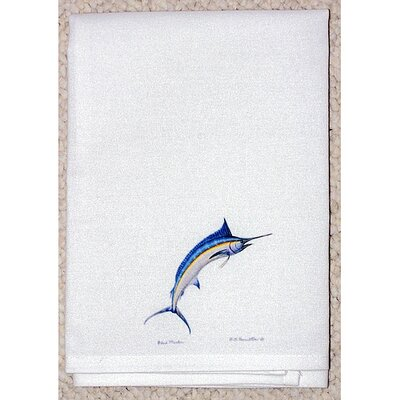 Betsy Drake Interiors Coastal Blue Marlin Hand Towel