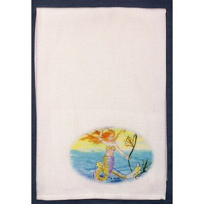 Betsy Drake Interiors Coastal Mermaid Hand Towel