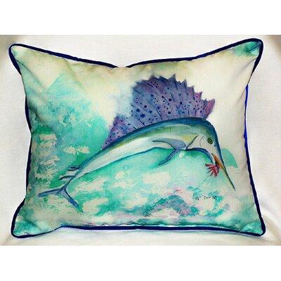 Betsy Drake Interiors Coastal Sailfish Indoor / Outdoor Pillow