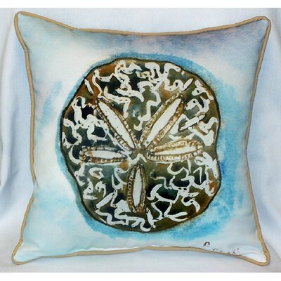 Betsy Drake Interiors Coastal Sand Dollar Indoor / Outdoor Pillow