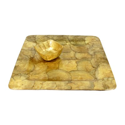 Dekorasyon Gifts & Decor Capiz Square Mini Bowl and Tray