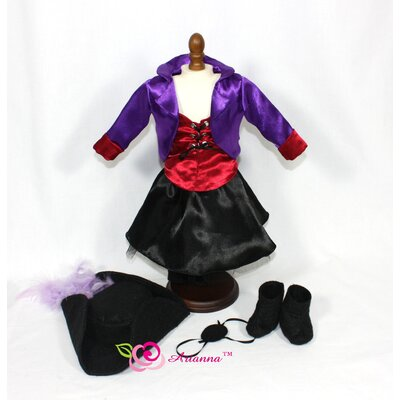 "Arianna Jezebel Pirate Gal Costume for 18"" American Girl Doll"
