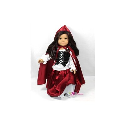 Riding Hood 4 Piece Doll Outfit Set for 18