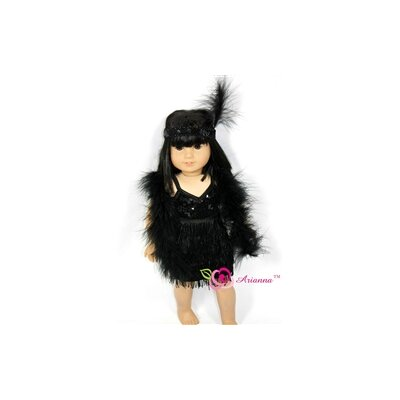 Charleston Beauty Flapper Doll Dress for 18