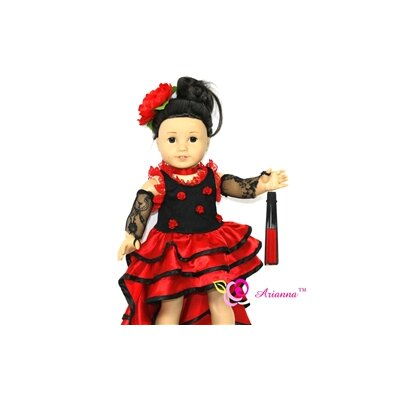 "Arianna Nina Flamenco Doll Outfit for 18"" American Girl Doll"