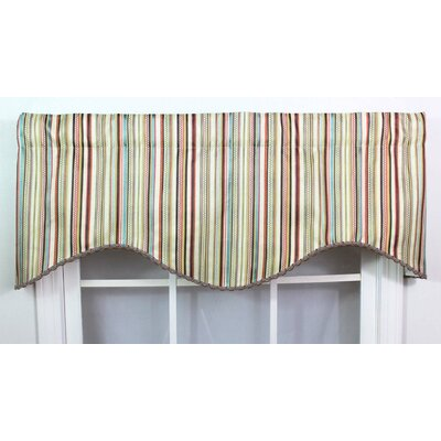 RLF Home Venice Cotton Rod Pocket Scalloped Curtain Valance