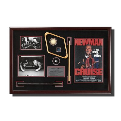 'Color of Money' Artwork Memorabilia Shadow Box