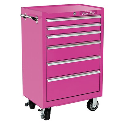 "The Original Pink Box 26"" 6 Drawer Roll Away Cabinet"
