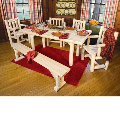 <strong>Rustic Natural Cedar Furniture</strong> Solid Top Dining Table