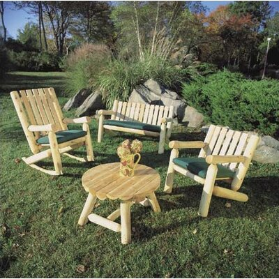 Rustic Natural Cedar Furniture High Back Indoor / Outdoor Rocking Chair