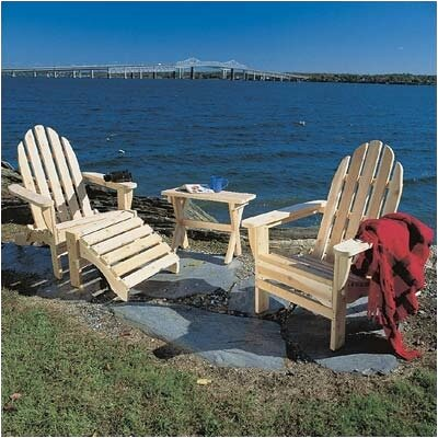Rustic Natural Cedar Furniture Adirondack Seating Group