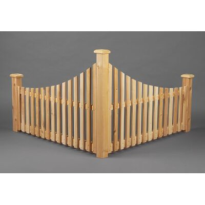 Rustic Natural Cedar Furniture Corner Fence