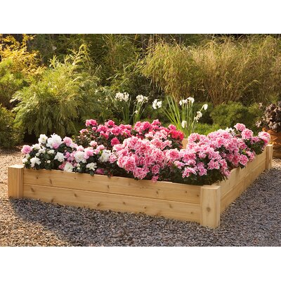 Rustic Natural Cedar Furniture Square Raised Bed Planter