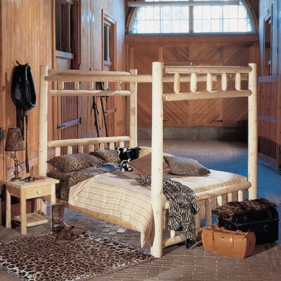 Rustic Natural Cedar Furniture Canopy Four Poster Bedroom Collection