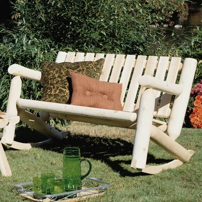 Rustic Natural Cedar Furniture Low Back Indoor / Outdoor Rocking Chair