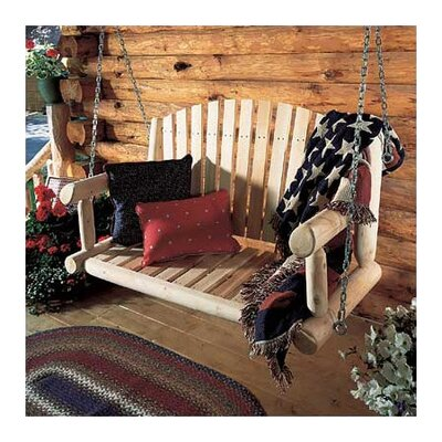 Rustic Natural Cedar Furniture Porch Swing