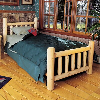 Rustic Natural Cedar Furniture Rustic Slat Bed