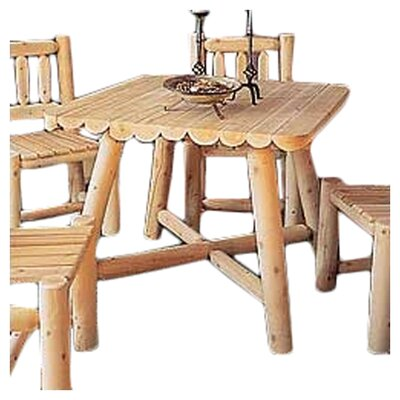 Rustic Natural Cedar Furniture Large Square Dining Table