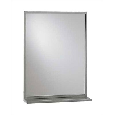 "American Specialties Steel Inter-Lok Angle Frame Mirror with Shelf, 24"" x 36"""