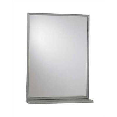 "American Specialties Steel Chan-Lok Angle Frame Mirror with Shelf, 18"" x 24"""