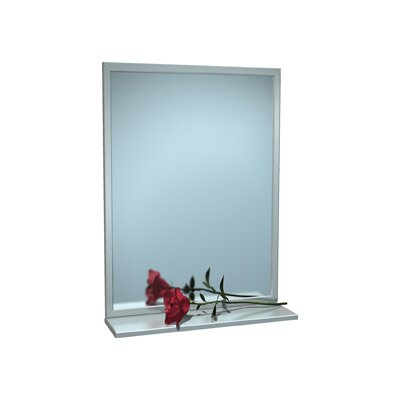 Steel Inter-Lok Angle Frame Mirror with Shelf, 16