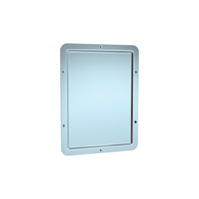 Front Mounting One-Piece Security Wall Mirror