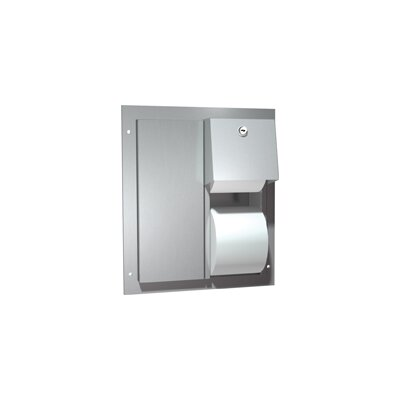 American Specialties Dual Access Partition Mounted Double Roll Toilet Paper Dispenser