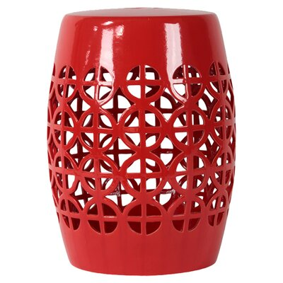 Urban Trends Ceramic Garden Stool Open Work-
