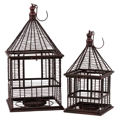 <strong>Urban Trends</strong> 2 Piece Lantern Set