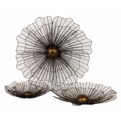 Urban Trends Home and Garden Accents Flowers 3 Piece Wall Décor Set