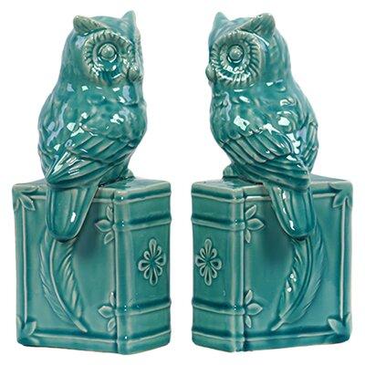 Urban Trends Ceramic Owl Bookend