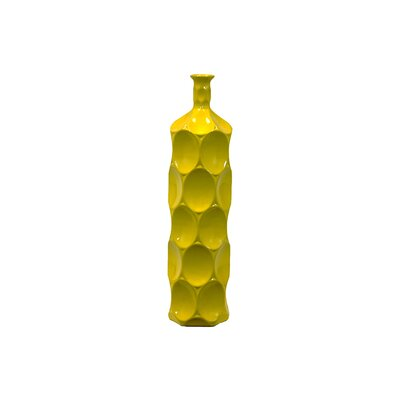 Yellow Ceramic Bottle