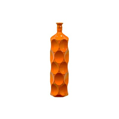 Sunset Orange Bella Ceramic Bottle